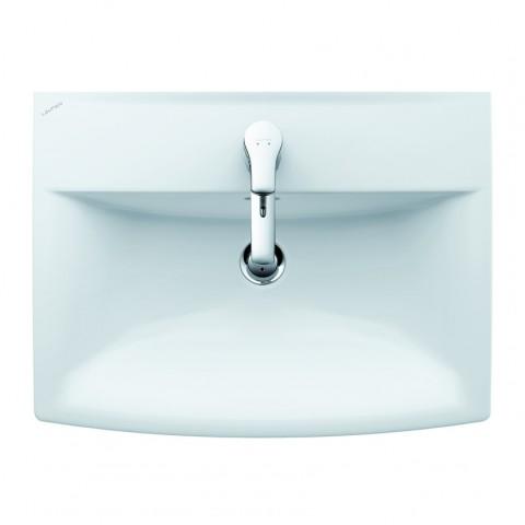 Praustuvas PRO NORDIC 500 x 360 mm su 1 skyle maišytuvui, baltas