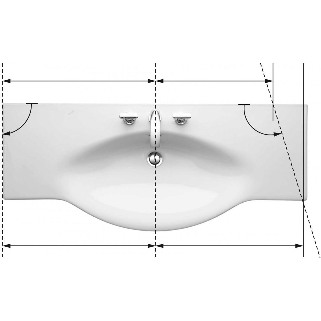 Baldinis praustuvas PALACE 120x51/38 cm, 1 anga maišytuvui