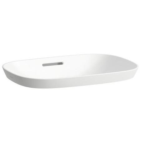 Iš viršaus įleidžiamas praustuvas INO 500x365 mm,  be skylės maišyt., Saphir Keramik, baltas
