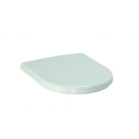Sėdynė su dangčiu PRO, lengvai numontuojama, antibakterinė, baltas