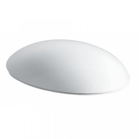 ALESSI ONE WC dangtis su chromuotais lankstais, antibakterinis, su Soft Close mech., baltas