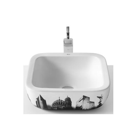 URBAN Ant stalviršio montuojamas praustuvas Urban Berlin 40 × 40 cm, su perlaja