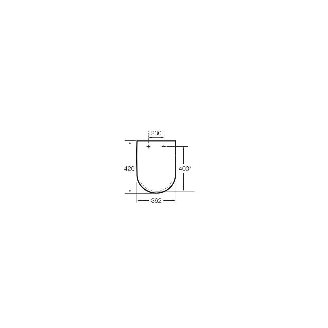 Unitazo sėdynė su dangčiu MERIDIAN  Compact, su Softclose mechanizmu
