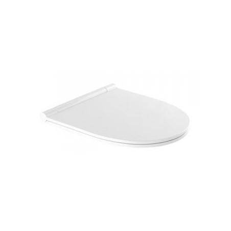 WC dangtis SANLIFE CLIPOFF su slowclose mech., antibakteriniu ef., Duroplast, nerūd. pl. lankstai, baltas