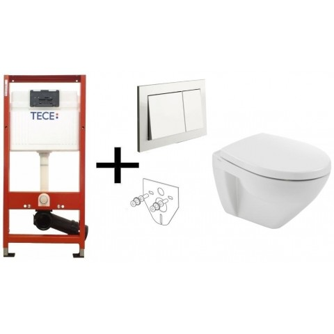 TECEbase WC (9400000) komplektas su unitazu Cetus ir soft close dangčiu  (110934004)