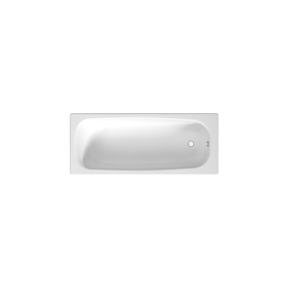 TANZA plieninė vonia 150x70 cm, balta