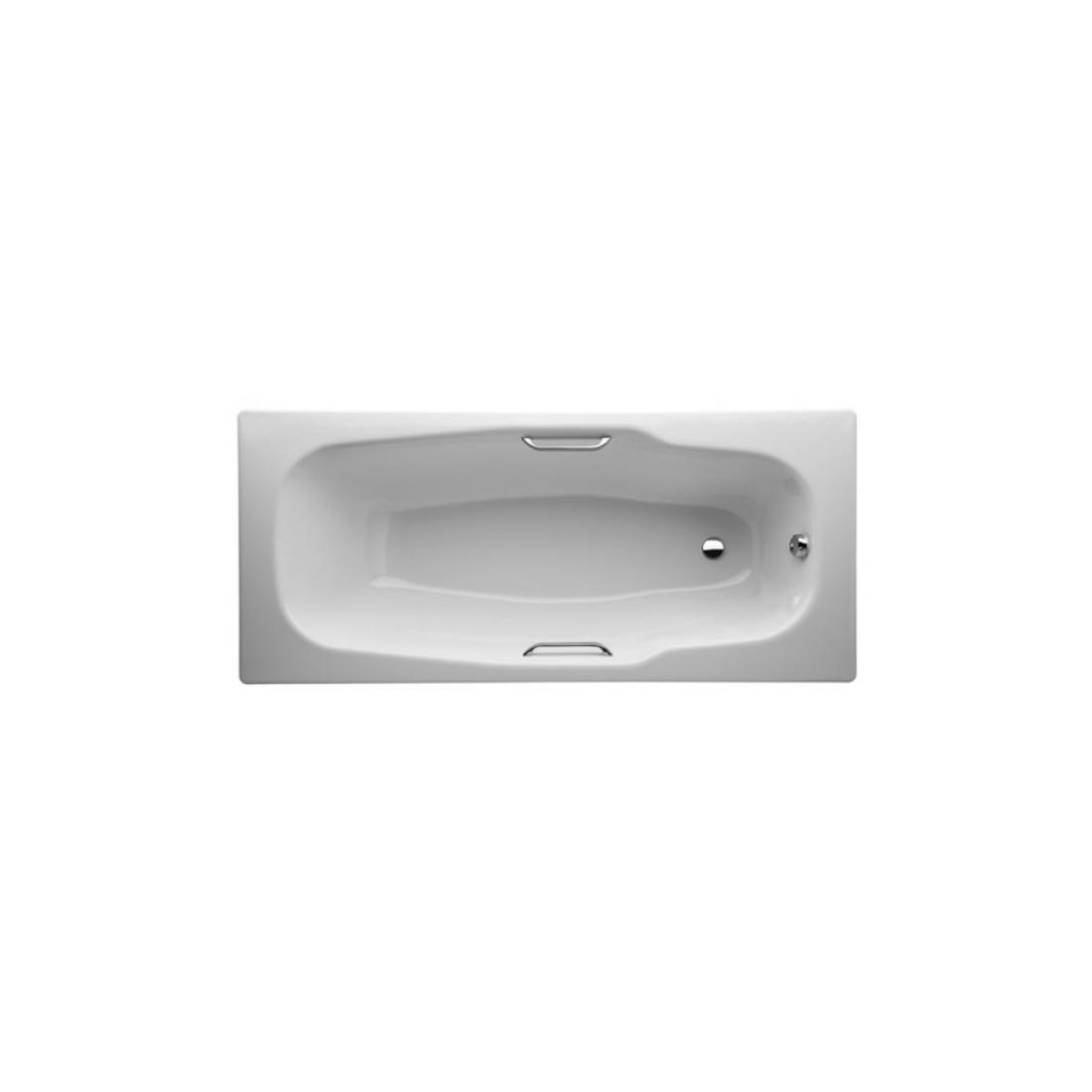 Plieninė vonia  PRAGA 180 x 80 cm, be rankenėlių (2.9410.2.004.000.1), balta