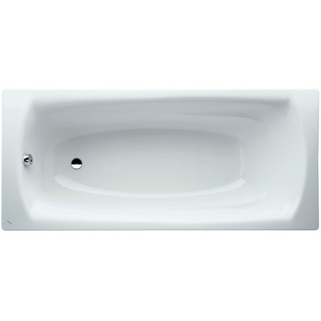 PALLADIUM plieninė vonia 170x75 cm., storis 3 mm., su triukšmo slopintuvais, vonios talpa 135 l., balta