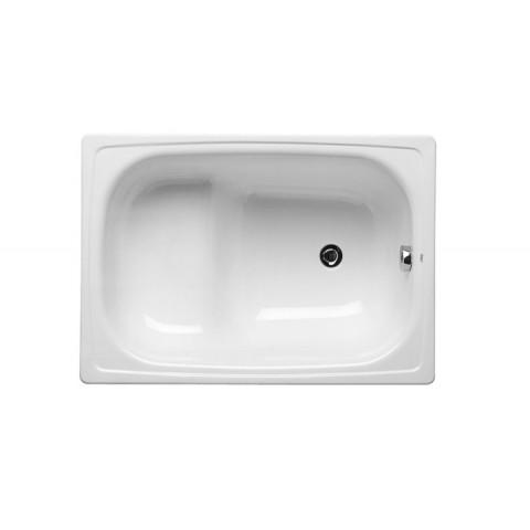 CONTESA plieninė vonia 100x70 cm, sėdimoji, balta