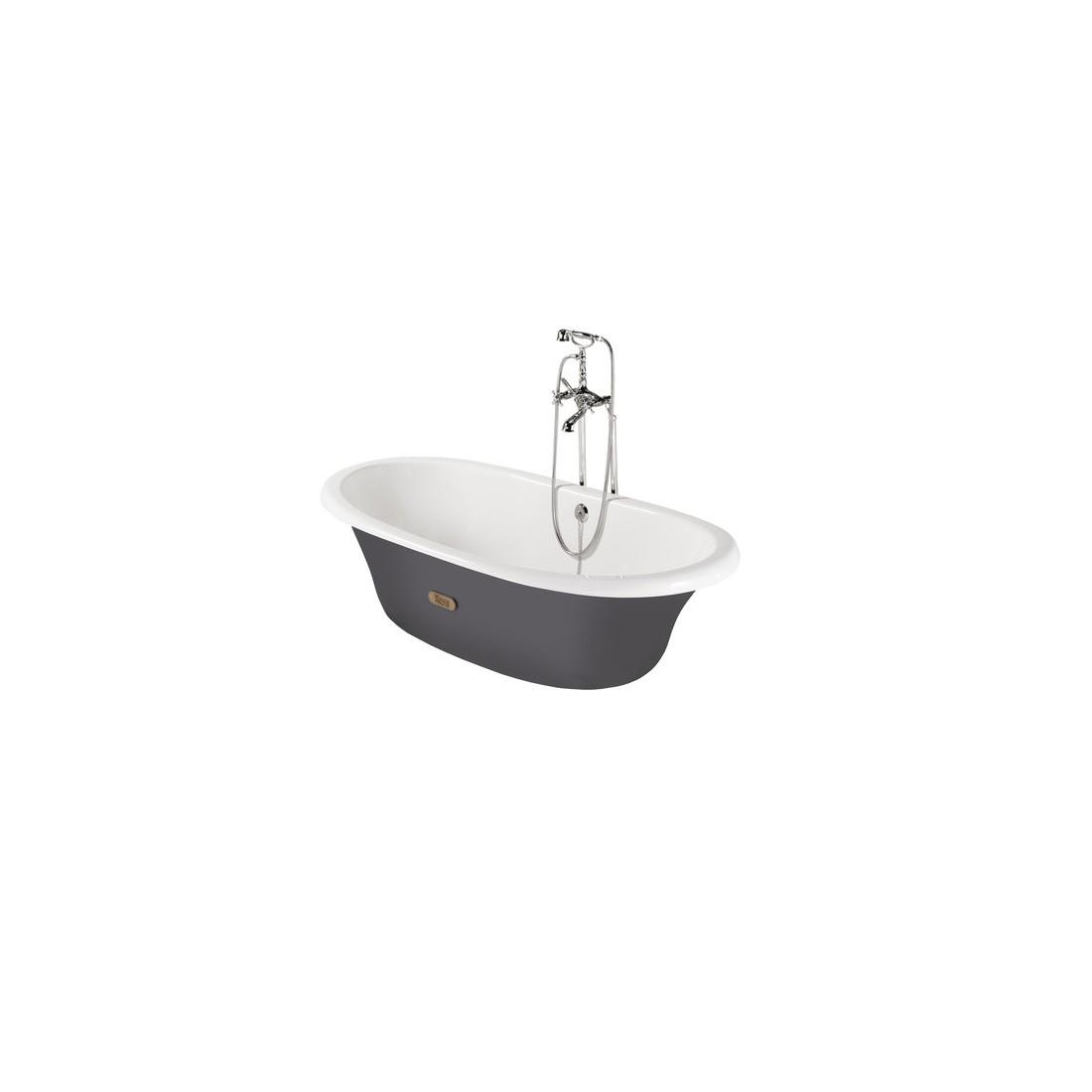 NEWCAST emaliuota ketaus vonia 170x85 cm, pilka, antislip, tūris 222 l.