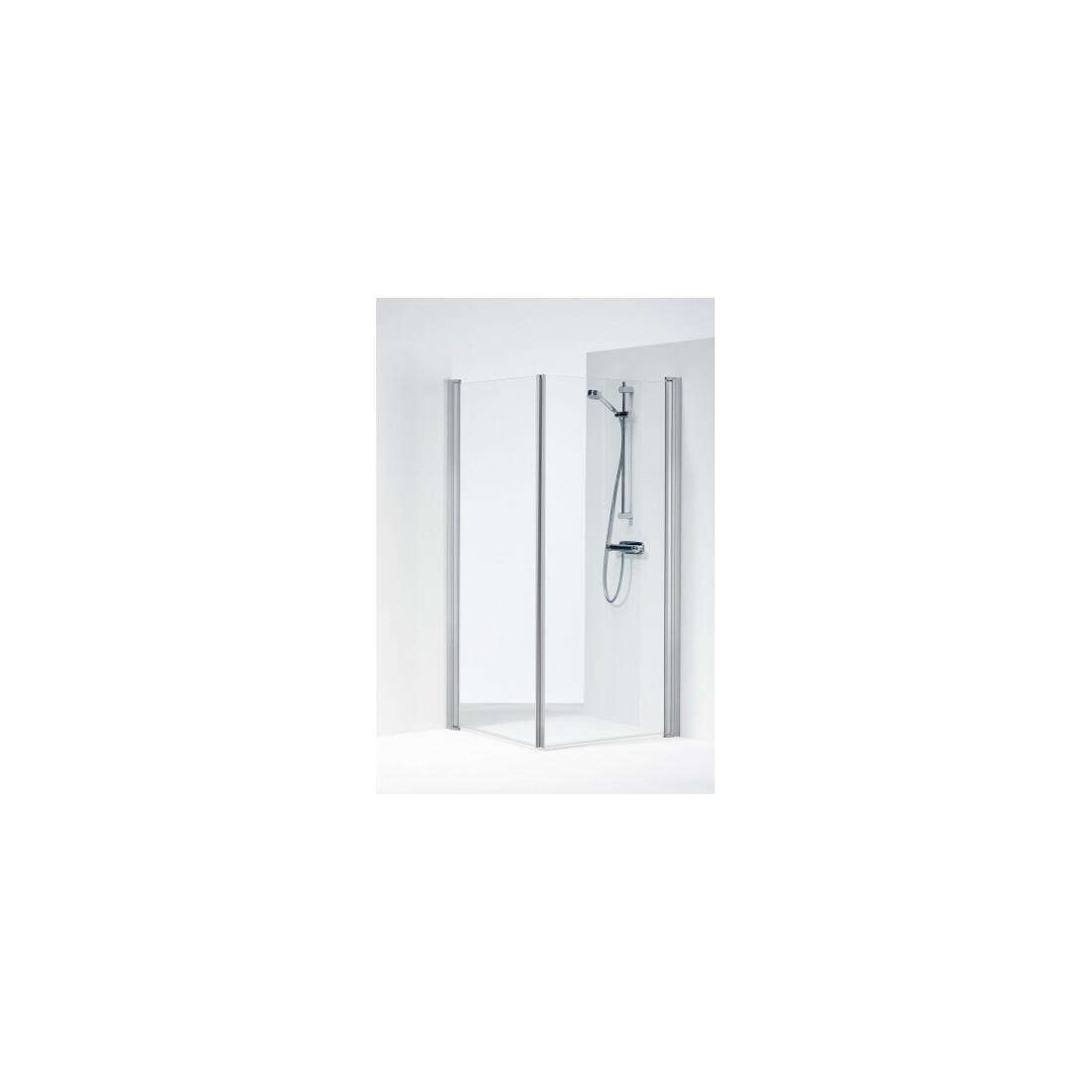 SPACE 2000 tiesios dušo kabinos durelės 80x190 cm, aliuminio sp. profilis, skaidrus 6mm stiklas SPNK 800
