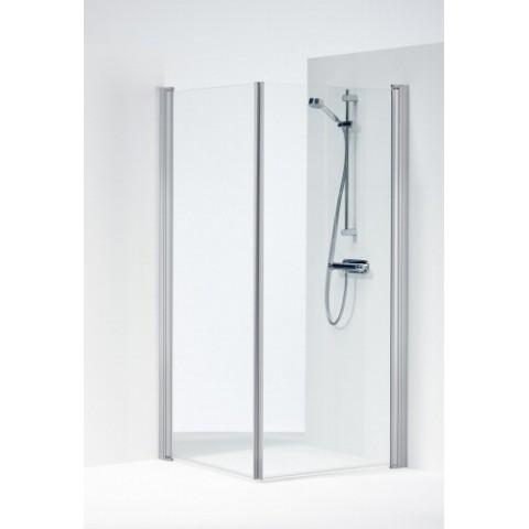 SPACE 2000 tiesios dušo kabinos durelės 90x190 cm, aliuminio sp. profilis, skaidrus 6mm stiklas, SPNK 900
