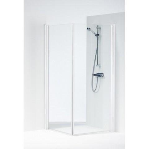 SPACE 2000 tiesios dušo kabinos durelės 90x190 cm, baltas profilis, skaidrus 6mm stiklas, SPVK 900