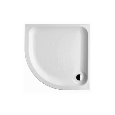 Deep Pusapvalis/kampinis dušo padėklas 100 x 100 x 6,3 cm, įleidžiamas, 550 mm spindulio, akrilinis, baltas
