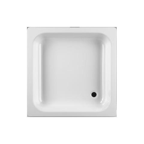 SOFIA Dušo padėklas 80 x 80 cm, su slydimą mažinančia danga, baltas