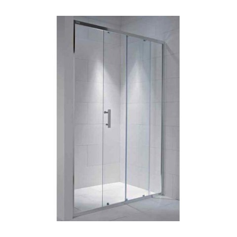 CUBITO pure dušo durys į nišą 1200x1950 mm, blizg. sidabro sp. rėmas,arkt. stk.