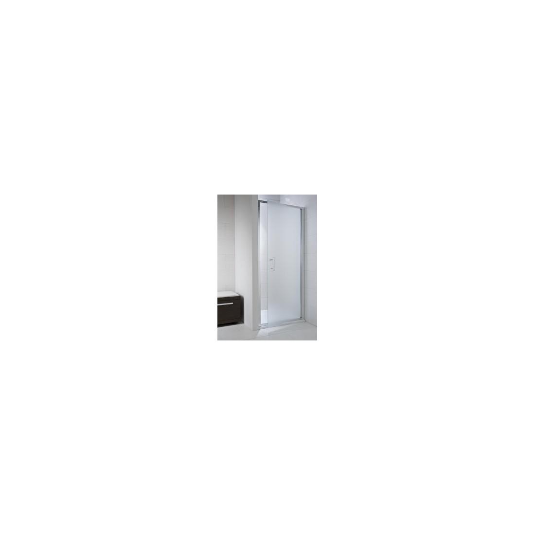 CUBITO pure Viensegmentės dušo durelės 100  x 195 cm, skaidrus stiklas, sidabrinis profilis, kairė/dešinė