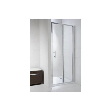 CUBITO pure Sulenkiamos dušo durelės 80 x 195 cm, arktinis stiklas, sidabrinis profilis, kairė/dešinė