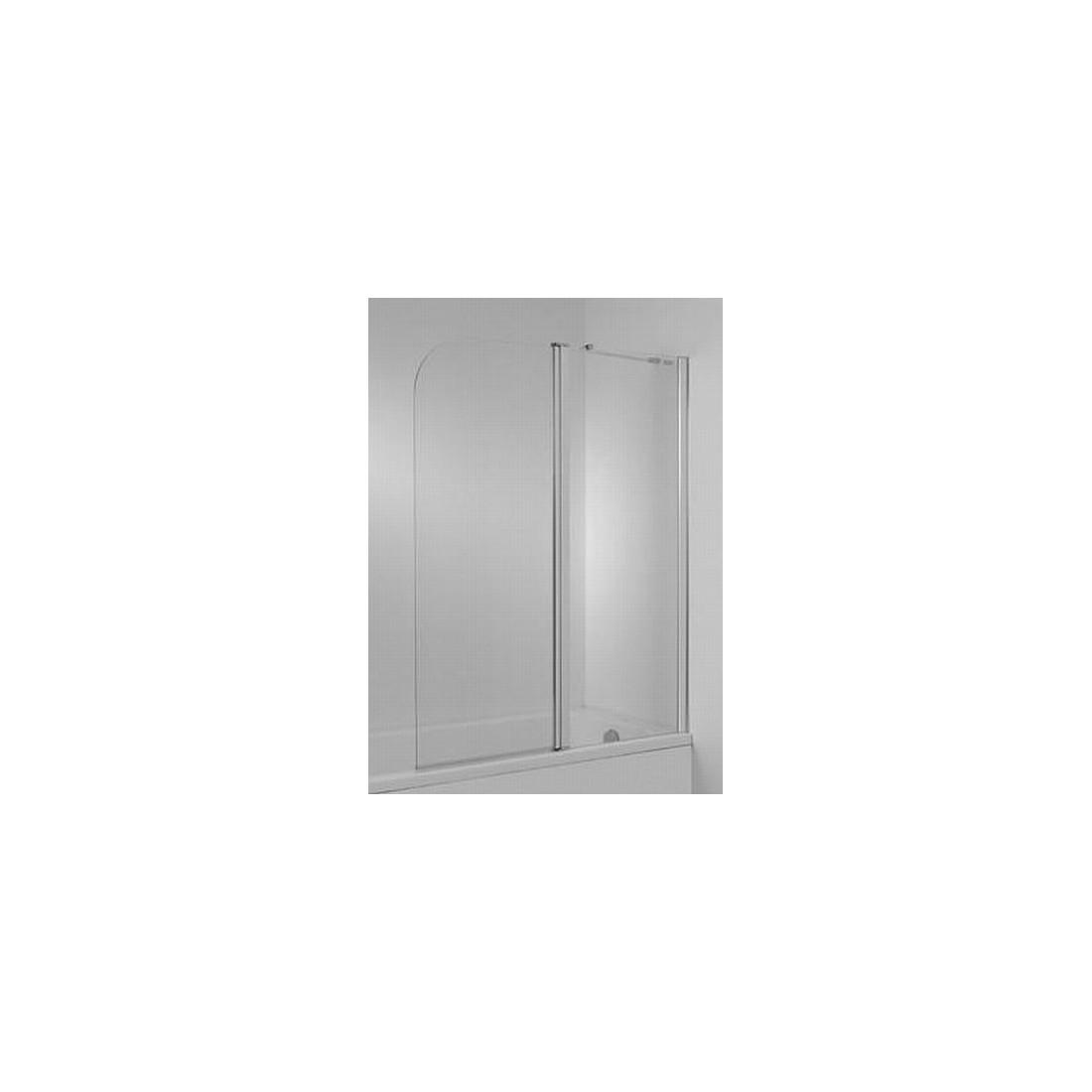CUBITO Vonios sienelė varstoma 2 dalių,  plotis 1150 mm, profil. sidabr. sp., skaidrus stiklas