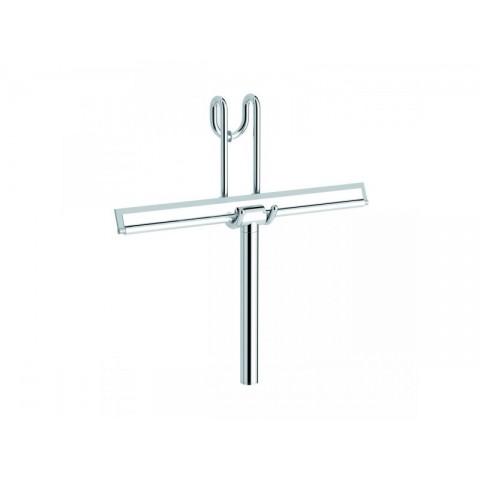 Stiklo valytuvas, kabinamas ant dušo kabinos, chromuotas