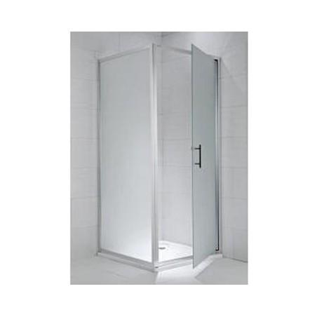CUBITO pure Stacionari dušo sienelė 100 x 195 cm, skaidrus stiklas, sidabrinis profilis, kairė/dešinė