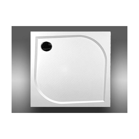 Dušo padėklas Klara kvadratinis 1000 x 1000, baltas