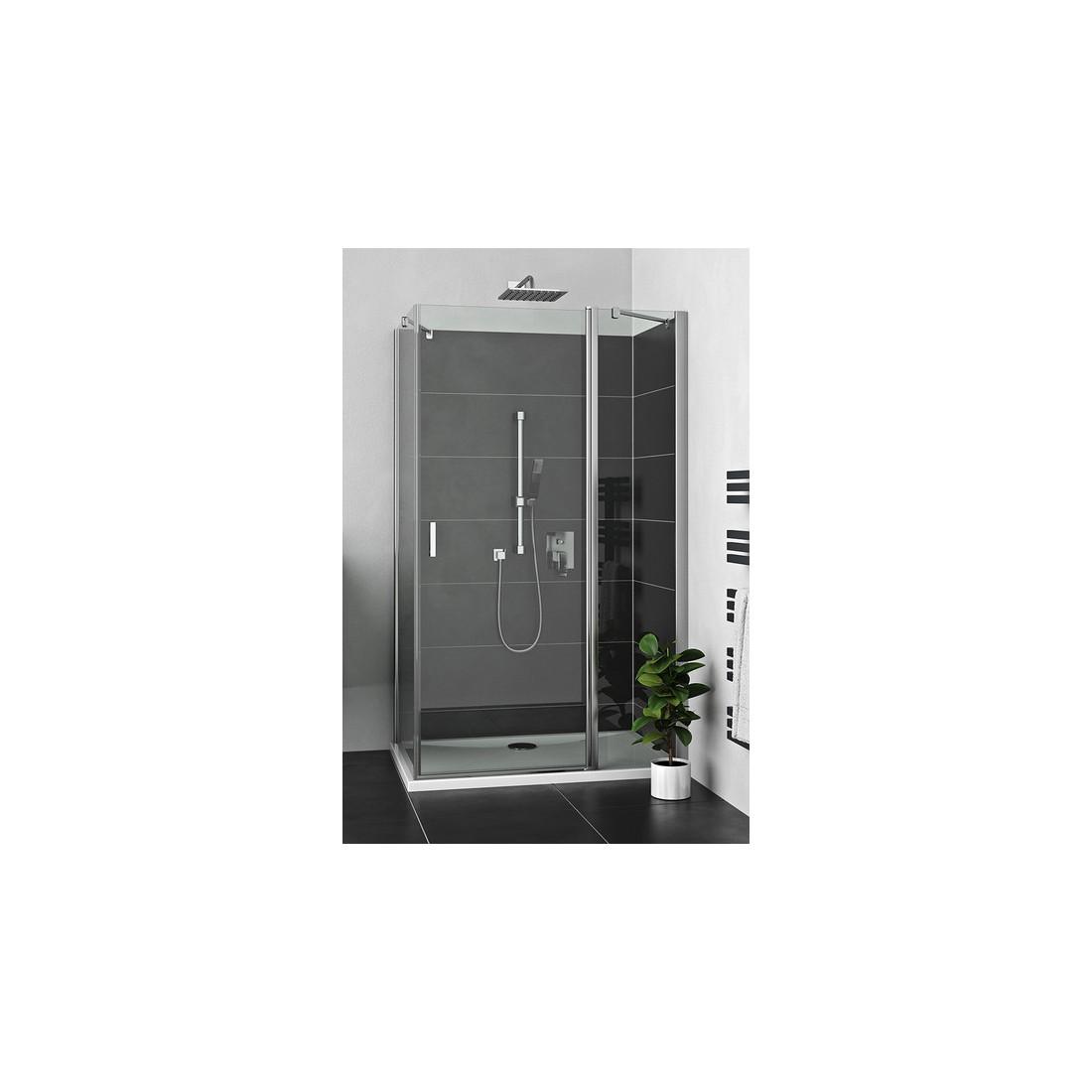 Šoninė siena LZB/900 durims LZDO1, prof. brillant, sikl. transparent
