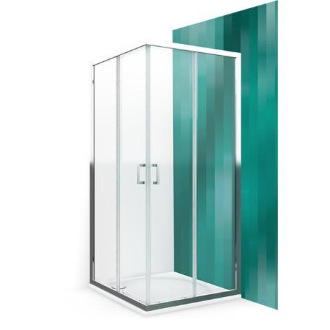 Dušo kabina LLS2/900, 875-890x1900 mm, profilis briliant, stiklas intimglass