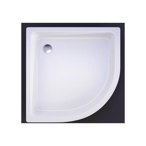 Akmens masės dušo padėklas R-100, 100x100 cm, pusapvalis, R-550