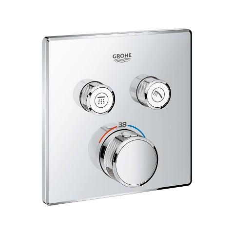 Potinkinis termostatinis maišytuvas Grohtherm Smartcontrol, 2 valdikliai, chromas