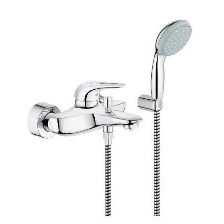 Eurostyle New vonios/dušo maišytuvas su dušo komplektu, chromas