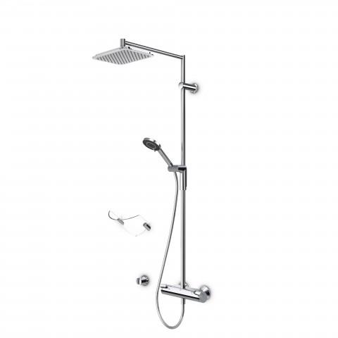 Termostatinė lietaus dušo sistema OPTIMA su rankiniu dušu, chromas