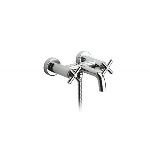 LOFT maišytuvas voniai / dušui dviejų rankenėlių, su rank. dušu ir 1,75 m. žarna ir laikikliu, chromas