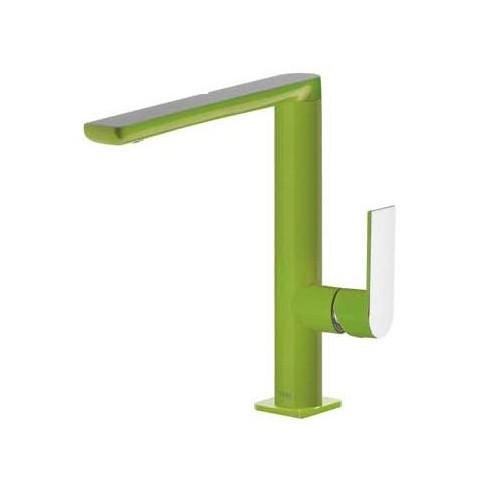 Praustuvo maišytuvas LOFT Colors paaukštintas H-220, tiesiu snapu , žalia/chromas
