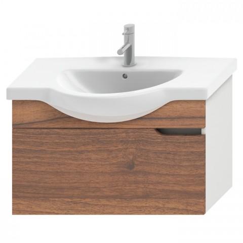 MIO spintelė 105 cm baldiniam praust., 1 stalč., balta / riešutas