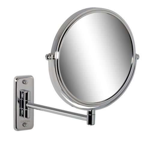 Skutimosi veidrodėlis 200mm, didina 3 k, vienos dalies stovas, chromas