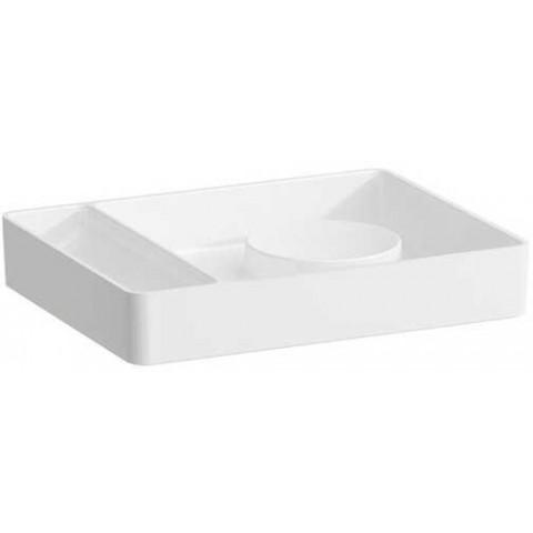 Stačiakampis padėkliukas VAL 360x280 mm, Saphir Keramik, baltas
