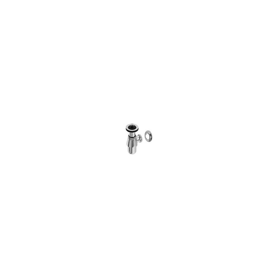 Plautuvės sifonas butelinis, su ventiliu, 1 1/4 x 32, chromas