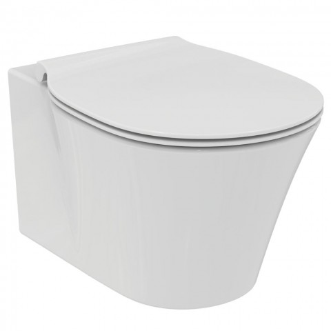 WC pakabinamas Ideal Standard Connect, Air Rimless, su paslėptais tvirtinimais ir lėtai nusileidžiančiu dangčiu