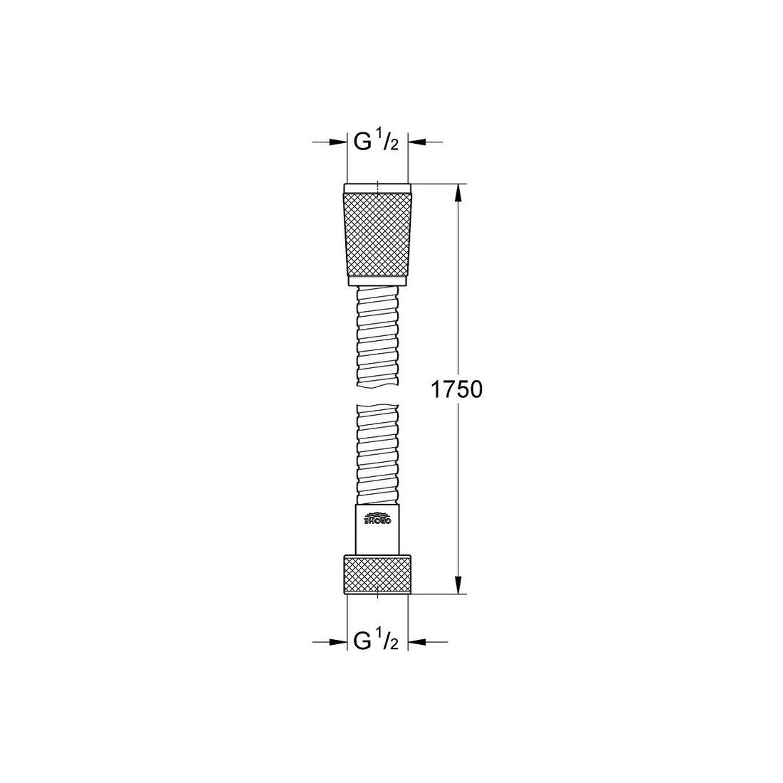 """Relexaflex dušo žarna 1750 mm., 1/2""""x1/2"""""""