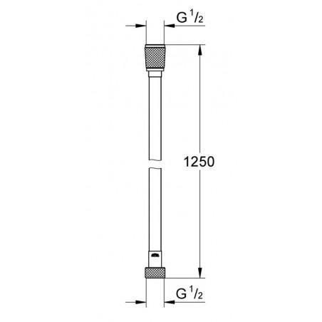 """Silverflex dušo žarna 1250mm., 1/2""""x1/2"""" *z"""