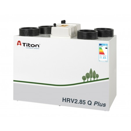 Rekuperatorius TITON HRV2.85 Q Plus BC Eco dešininis 293m3/h@100Pa