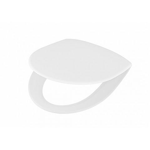Unitazo dangtis INSPIRA su soft close funkcija, lengvai nuimamas arba fiksuoto tvirtinimo, kietas, baltas