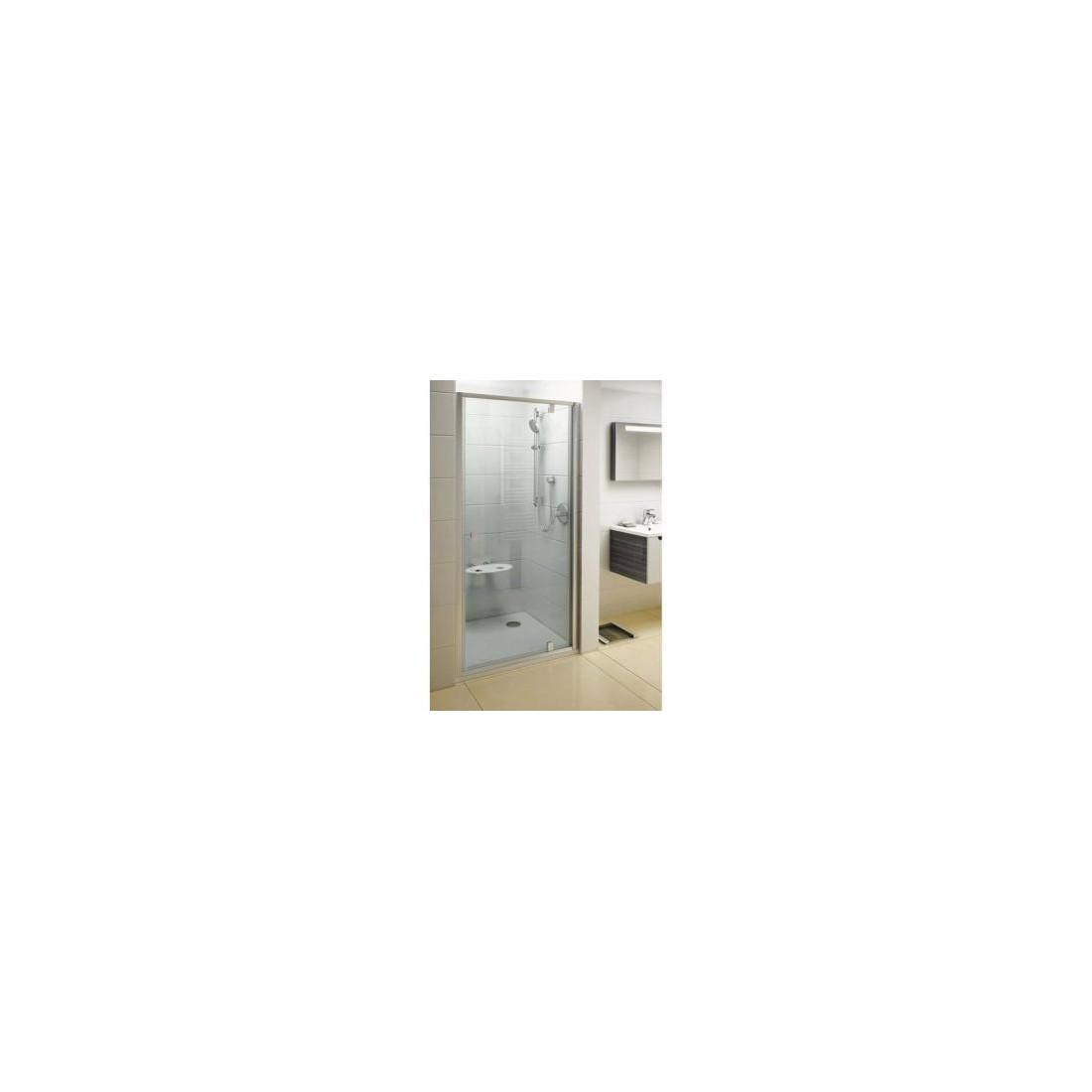 Dušo durys varstomos PDOP1-90, Satin + Transparent