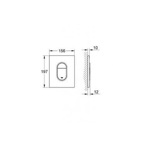 WC klavišas GROHE Arena Cosmopolitan baltas