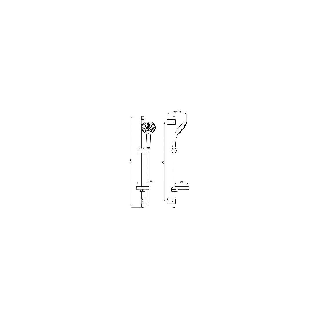 Dušo stovas Ideal Standard IdealRain, L3, 900 mm, galvutė 120 mm
