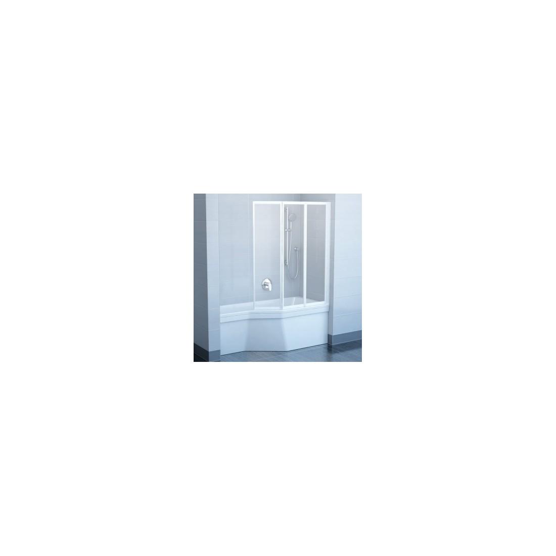 Vonios sienelė RAVAK VS3 130 balta + plastikas Rain
