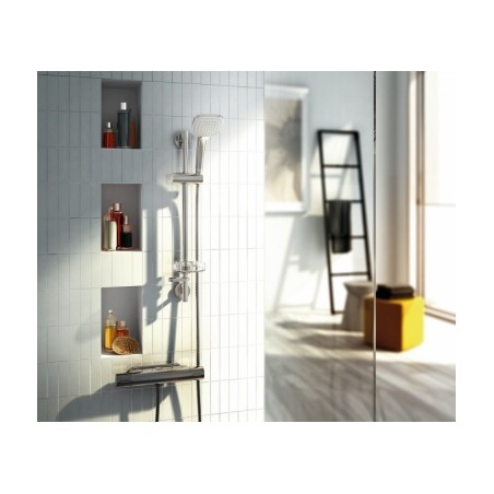 Dušo stovas Ideal Standard IdealRain, Cube M1, 600 mm, galvutė 100 mm