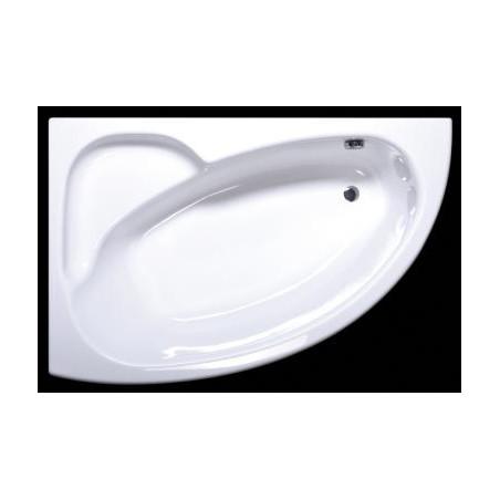 Akmens masės vonia Vispool Piccola, 154x100 dešininė balta