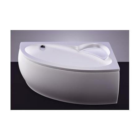 Akmens masės vonia Vispool Piccola, 154x100 kairinė balta